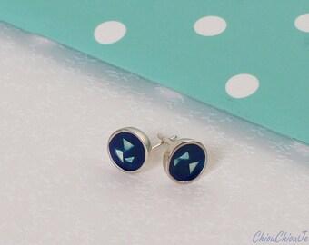 geometry earrings,sterling silver