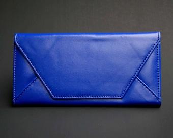 Womens Wallet, Leather Wallet, Blue Wallet, Blue Purse, Blue Leather Purse, Blue Leather Wallet