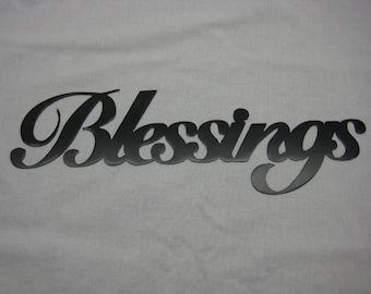 Blessings Metal Wall Word