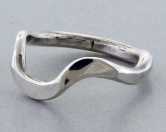 Sterling Silver Bent/Forged Ring - Size 7 1/2