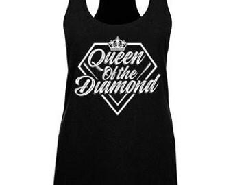 Queen of the Diamond Women's Racerback Tank Top