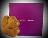 Vintage Judith Leiber Four Leaf Clover Gold Minaudiere Vintage Handbag Evening Accessories