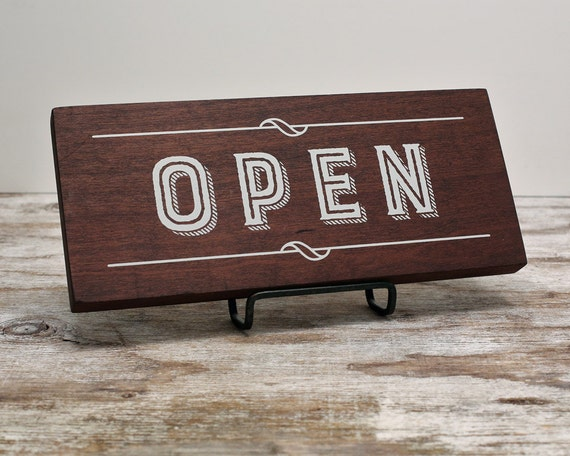 Cherry wood open closed retail shop by urbanfringeliving for Opening a storefront business