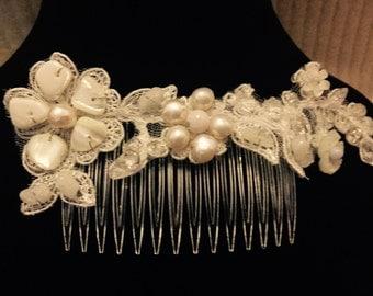 Wedding bridal hair comb - applique - gemstone, p