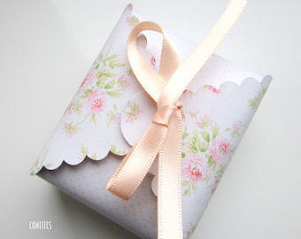 Favour Box with matching ribbon Pack of 10 - Wedding - Birthday -  Party