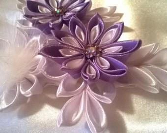 Strip mind kanzashi flower