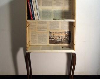 comodino/mini libreria stile industriale/romantico varie ambientazioni