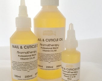 Nail & Cuticle Oil - Professional Blend with Vitamin E and B5. Cruelty free, vegan.