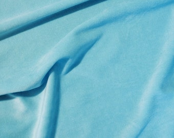 Turquoise Cotton Velour Fabric