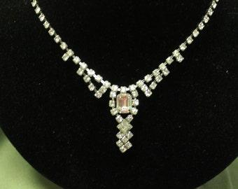 Beautiful clear rhinestone chain unsigned