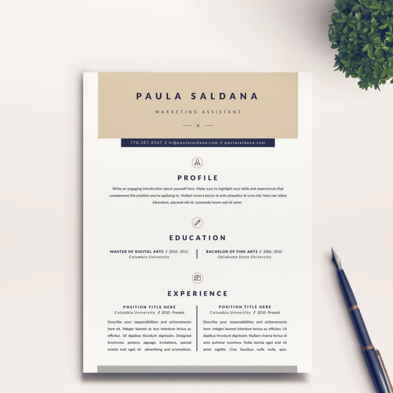Modern and Professional Resume Template and Free Cover Letter