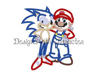"""Soniq and Mareeo applique machine embroidery design- 3 sizes 4x4"""", 5x7"""", 6x10"""""""