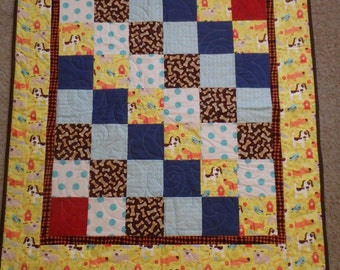 homemade baby quilt, baby quilt, dog quilt, handmade baby quilt, baby quilt for boys, gifts for boys, green quilt