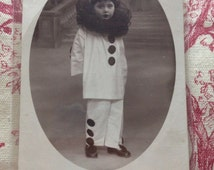Photo card postcard small pierrot the Moon