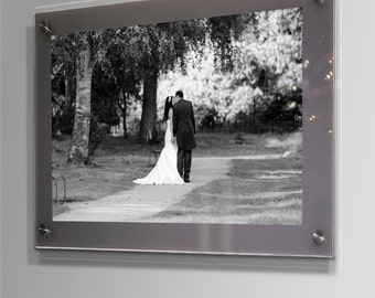 cheshire acrylic grey 10mm picture wall frame for all photo sizes