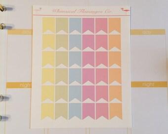 Pastel Page Flags Medium Planner Sticker Flags - Pastel Set 2