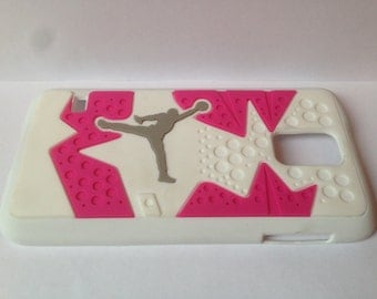 Jordan cell phone cover Samsung S5 white pink phone case NBA