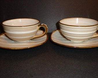 Vintage Showa Stone Ware Cup and Saucer set