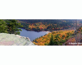View from Beech Mountain, up to 48 x 12 Panorama, Bar Harbor, Maine, Foliage, Hiking, Acadia, Fine Art, Wall Art