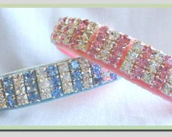 Pastel Glamour Crystal Rhinestone Dog or Cat Collar