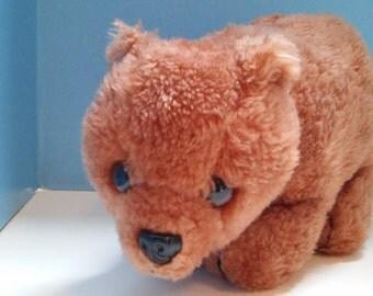 Vintage Dakin 1975 Brown Bear Plush