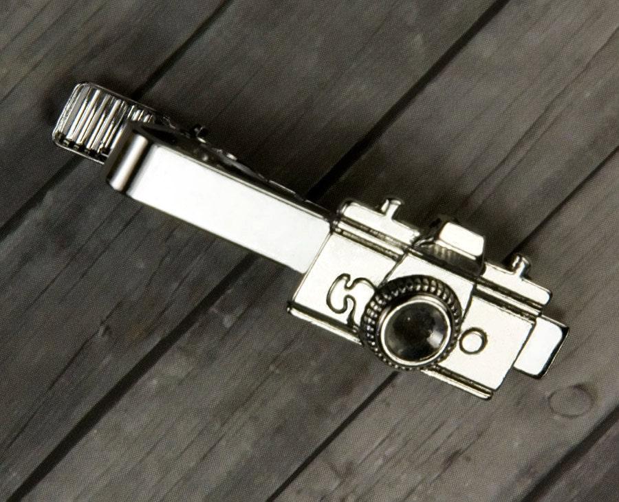 Camera Tie Bar : Camera tie clip bar mens jewelry groom