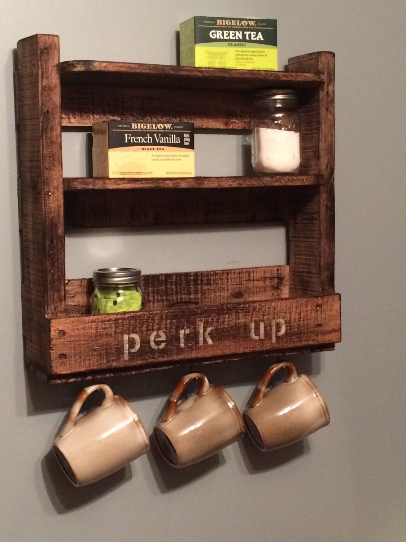 Coffee Bar Shelves Tea Station