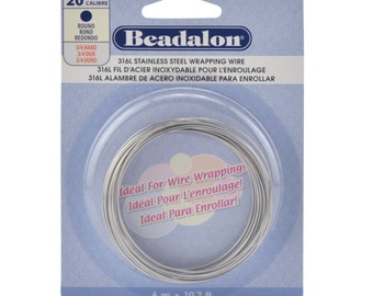 20 Gauge (316L) Stainless Steel - (Round) Wire-Wrapping Wire by Beadalon