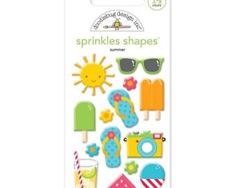 Doodlebug ~ Sunkissed Sprinkles Glossy Enamel Stickers