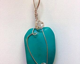 Large Turquoise Spiral Wrap