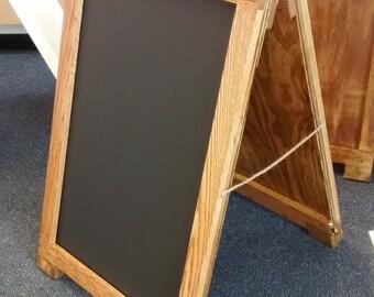 "Sandwich board, 24"" x 36"" Wooden A-Frame Sign Holder"