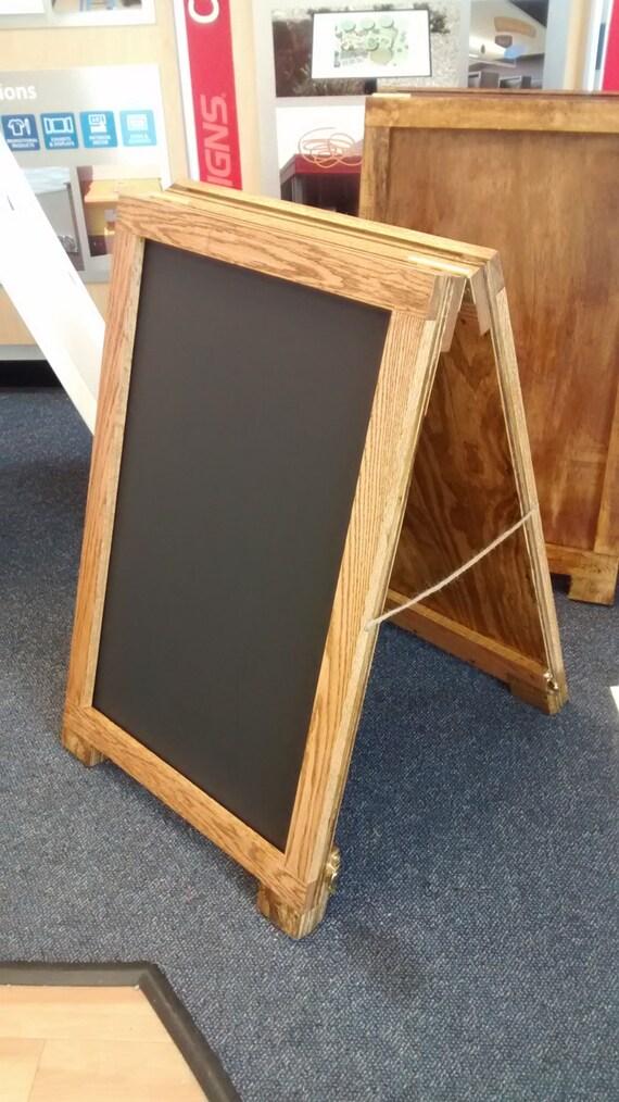 Sandwich board wooden a frame sign holder