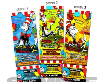 Dr Seuss  invitation birthday party