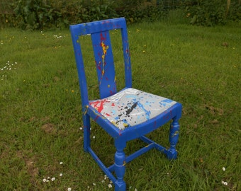 Wacky 'Street Art' Blue Graffiti Chair