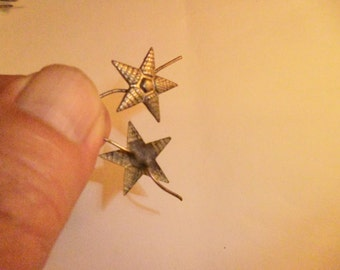 Star on the epaulet major lend-lease with silver plated WW2. Price for 1 unit.