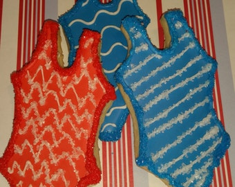 July 4th Swimsuit Cookies