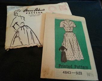 Vintage Anne Adams Dress Pattern 4843 Uncut/Never used
