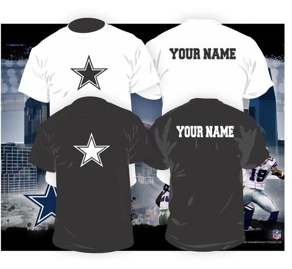 Dallas cowboys shirt w custom name by thecustomtee on etsy for Custom made shirts dallas