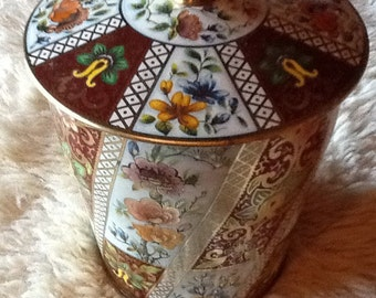 Vintage Collectible Floral Candy tin