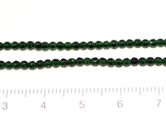 green sand faced round 2mm beads  1str/G-0086