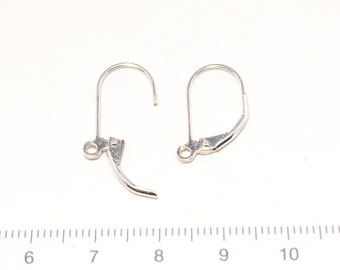 Sterling silver pierced earring spring closer 1pair/S-0011