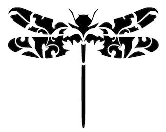 "8.3/11.7"" Vintage dragonfly stencil 3.  A4."