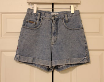 Denim High Rise Shorts