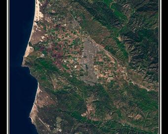 Santa Maria California Satellite Poster Map