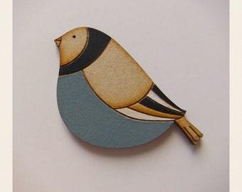 Fat Bird Brooch