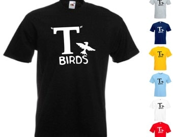 T Birds Grease - Mens/Adult Novelty Tshirt - Fancy Dress/Musical/Party/Danny Zuko
