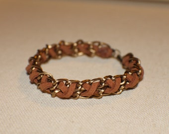 Leather Woven Chain Bracelet