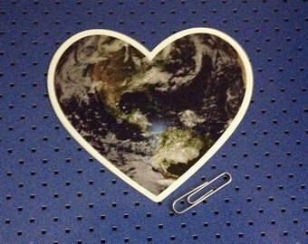 I Love Earth Bumper Sticker - Earth Heart