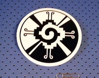 Mayan Hunab Ku Symbol Bumper Sticker
