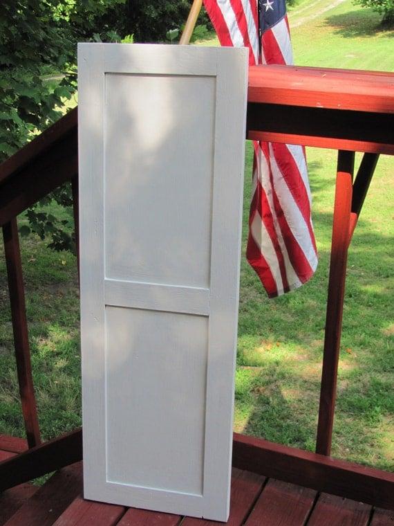 Shaker Style Flat Panel Wood Exterior Shutter